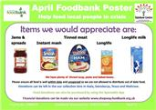 FOOD BANK DONATIONS- APRIL