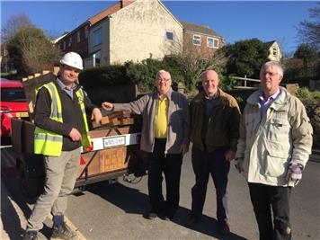 - Bray and Slaughter generously donate unwanted wood to the RWB Shed