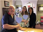 Blue Hearts delivered to RWB Town Council