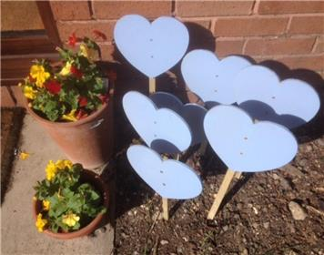 - Blue Hearts delivered to RWB Town Council