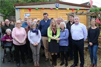 Group Picture with MP WCS and Heads Up - Wells Community Shed Open for 'Business'
