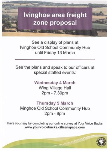 - Ivinghoe Freight Zone Display