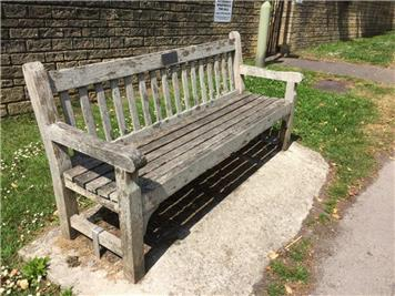 Before - Station Road bench renovation