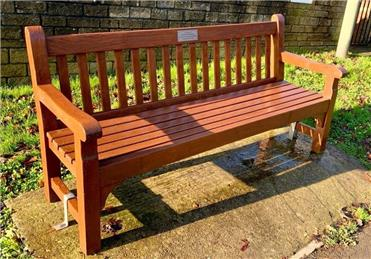 Reinstalled - Station Road bench renovation