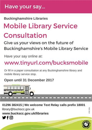 - Buckinghamshire Libraries - Mobile Library Consultation