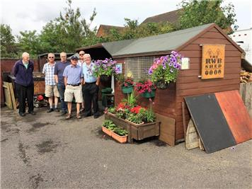 Ready for judging day - South West in Bloom at the RWB Shed