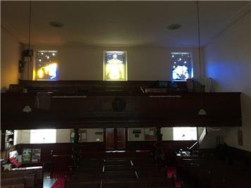 Restored frames inside - Restored Advent Windows for RWB United Reformed Church