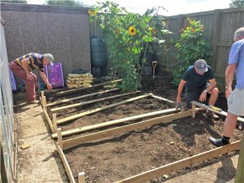 - Raised beds installed at RWB Academy