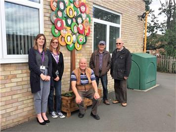 - Planters in place at Longleaze