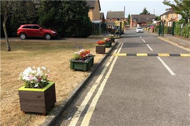 Planters outside the Academy - The RWB Shed builds and donates planters to St Bartholomew's Primary Academy