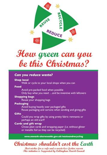 Reduce - Have a Green Christmas in Collingham