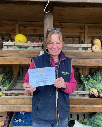 Karen Groom - Award for Ivinghoe Parish Council Chairman
