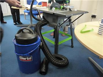 Table saw & dust extraction - More tools and activities at the RWB Shed