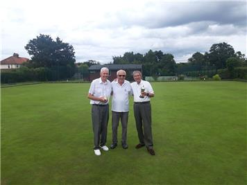 Chairman with the Runner-Up and Winner - Strawberry Tea & Two-Wood Open