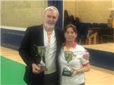 The ladies and mens singles competition Winners