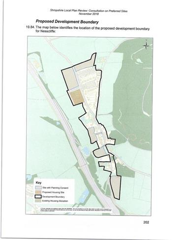 Development Boundary Nesscliffe - Local Plan Review consultation