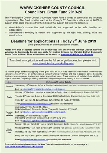 Applications open for WCC's Councillors' Grant Fund 2019/20