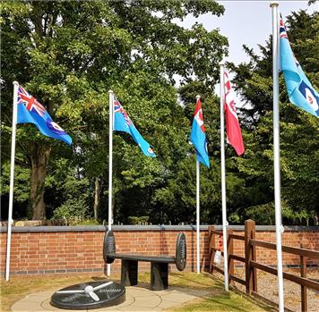 - Flags raised to commemorate VJ Day
